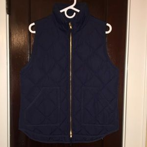 euc jcrew quilted puffer vest 92465